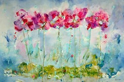 Spring Blooms II by Emilija Pasagic - Original Painting on Box Canvas sized 60x40 inches. Available from Whitewall Galleries